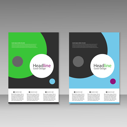 909923870 istock photo Abstract brochure design. Modern cover backgrounds. Vector template 941066378
