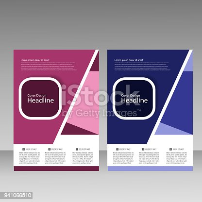 909923870istockphoto Abstract brochure design. Modern cover backgrounds. Vector template 941066510