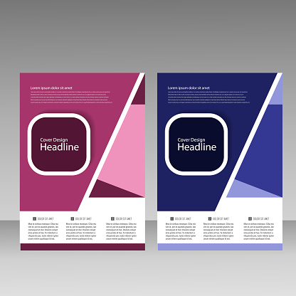 909923870 istock photo Abstract brochure design. Modern cover backgrounds. Vector template 941066510