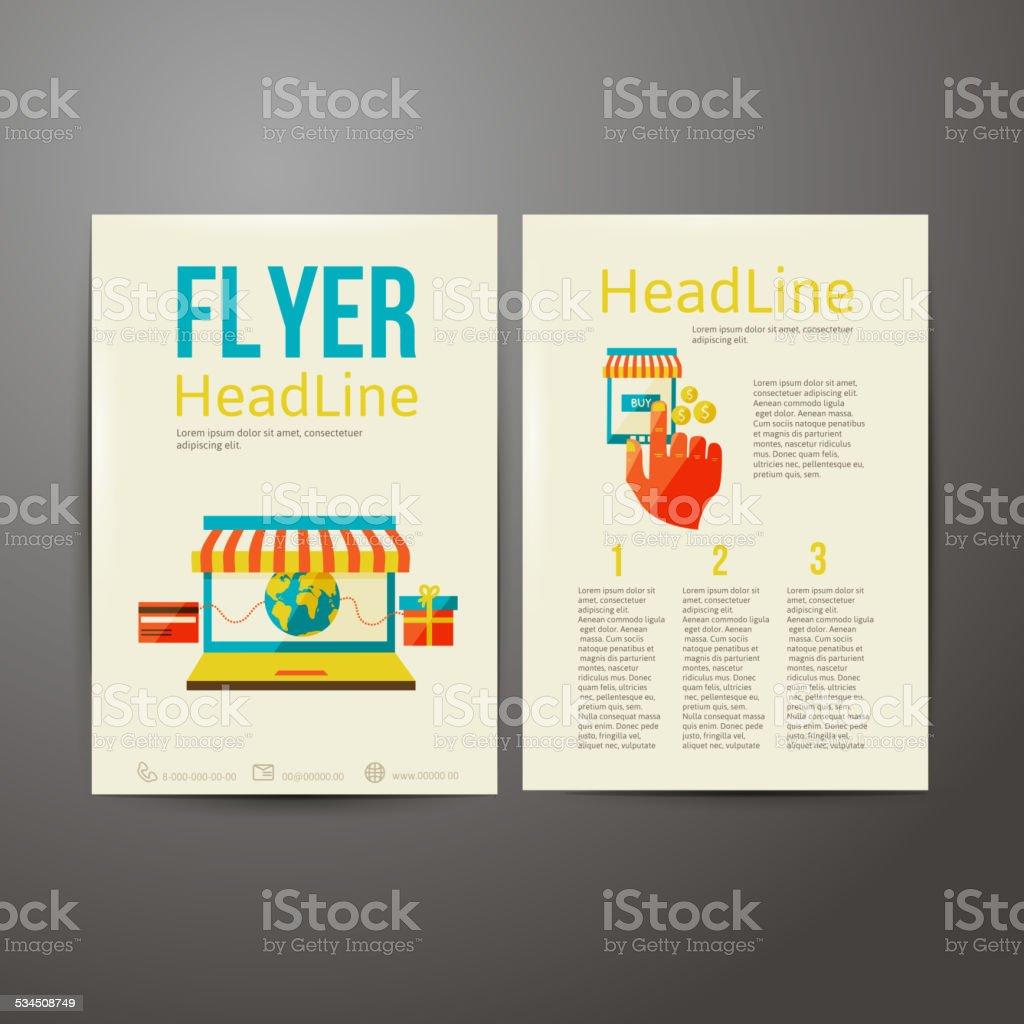 abstract brochure flyer design online payment stock vector art