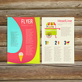 Abstract  Brochure Flyer design vector template. stylish ice cream, vector illustration