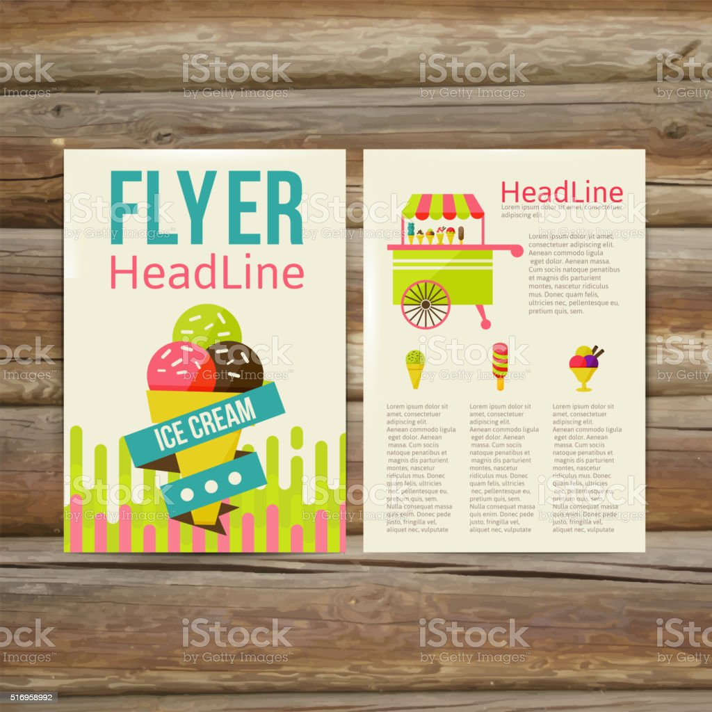 Ilustración de Abstract Brochure Flyer Design Template Vector ...