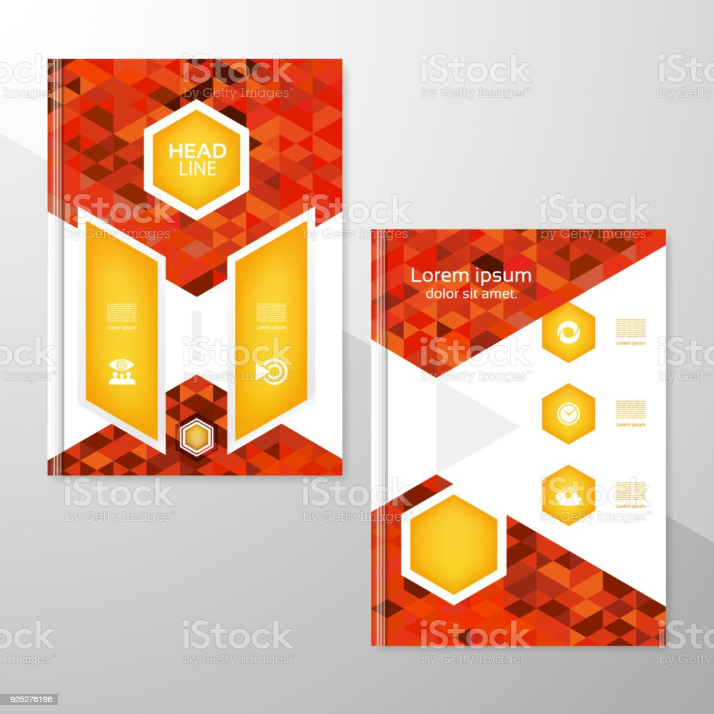 Abstract Brochure Or Flyer Design Template Book Design Blank Print