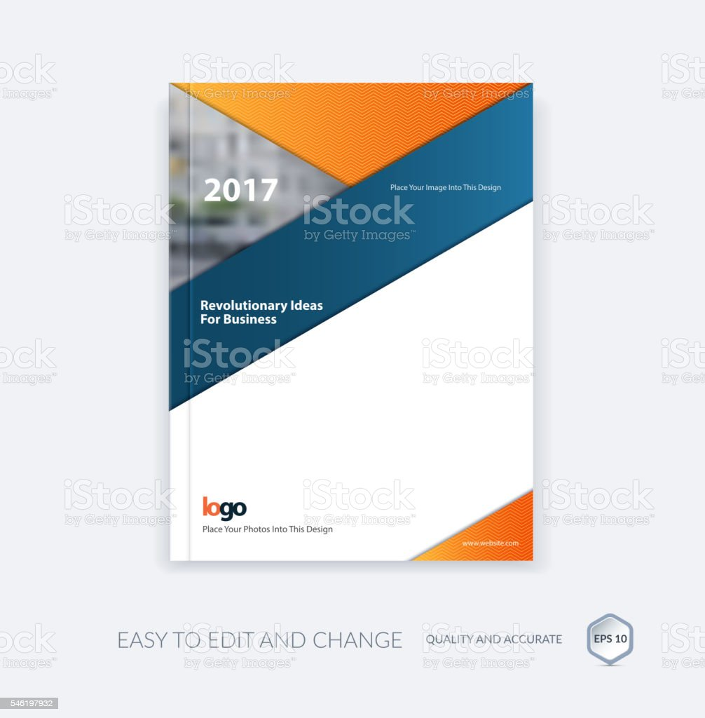 Abstract brochure template, cover design annual report, magazine vector art illustration