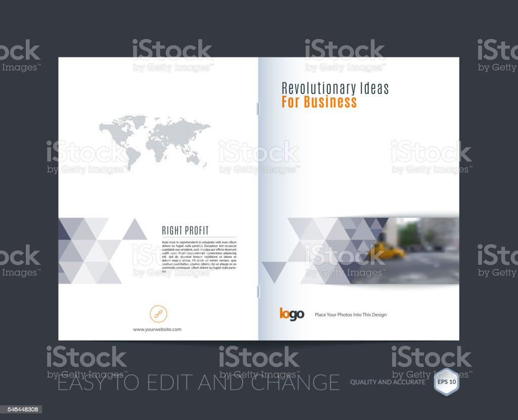 abstract brochure template cover design annual report magazine