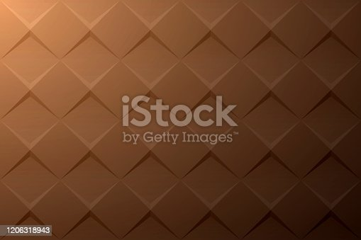 istock Abstract brown background - Geometric texture 1206318943