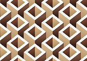abstract brown cube pattern background
