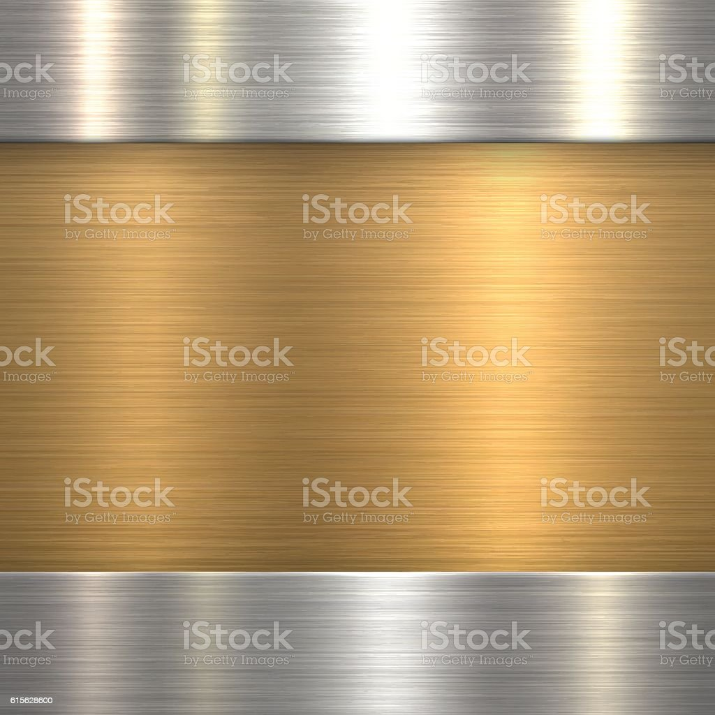 Abstract Brushed Metal Background - Bronze, Copper vector art illustration