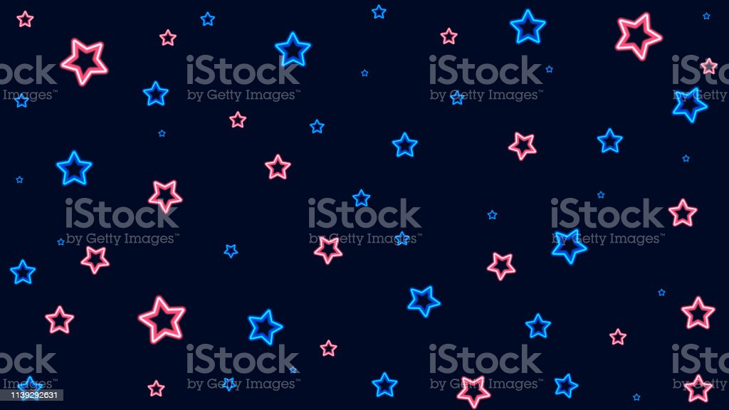 Abstract bubble star pattern background