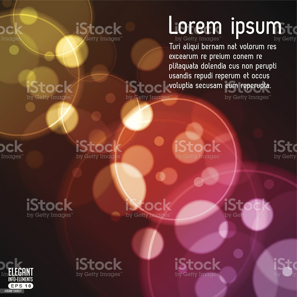 Abstract Bubbles Reflections royalty-free stock vector art