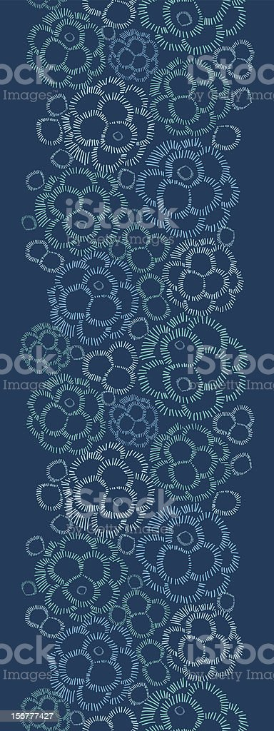 Abstract Bubbles Vertical Seamless Pattern Border royalty-free stock vector art