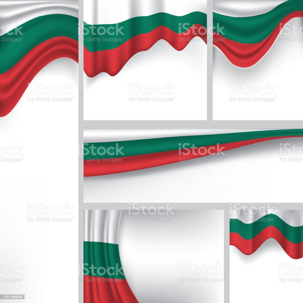 Abstract Bulgaria Flag, Bulgarian Vector Flag (Vector Art) vector art illustration
