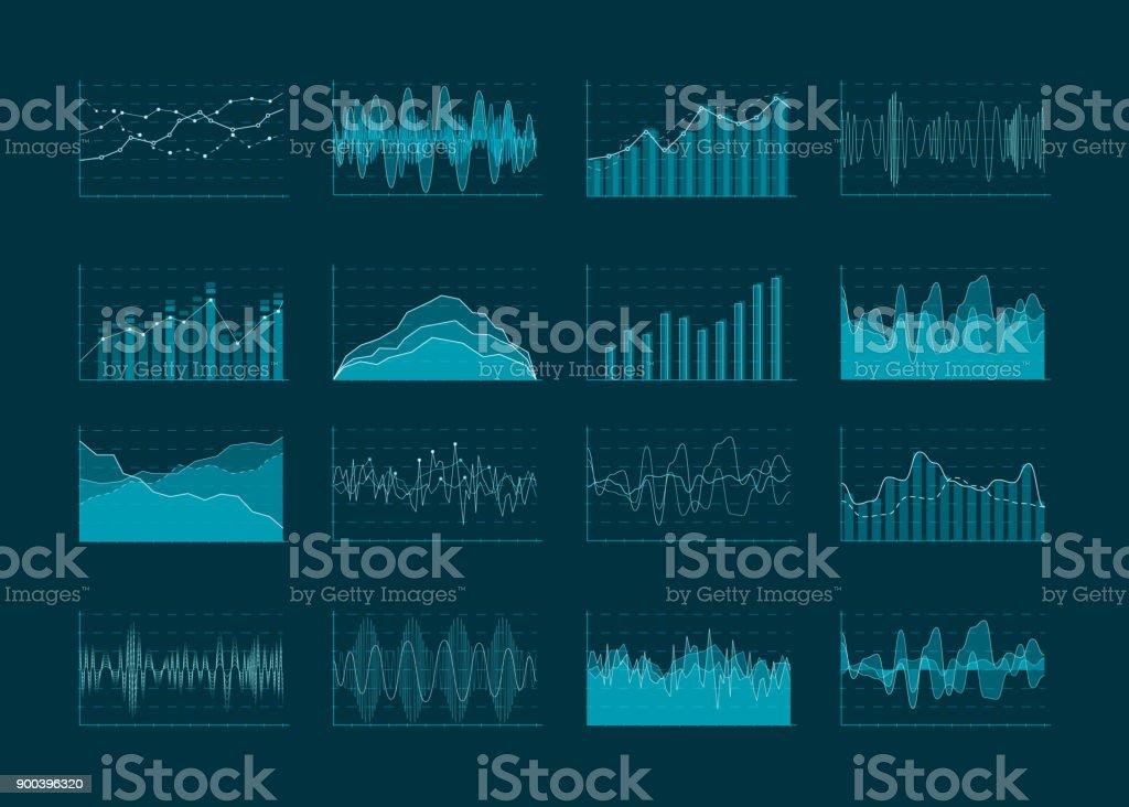 Ilustración de Negocios Abstractos Diagramas De Análisis Y ...