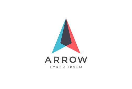 Abstract business arrow up logo icon. Vector design template.