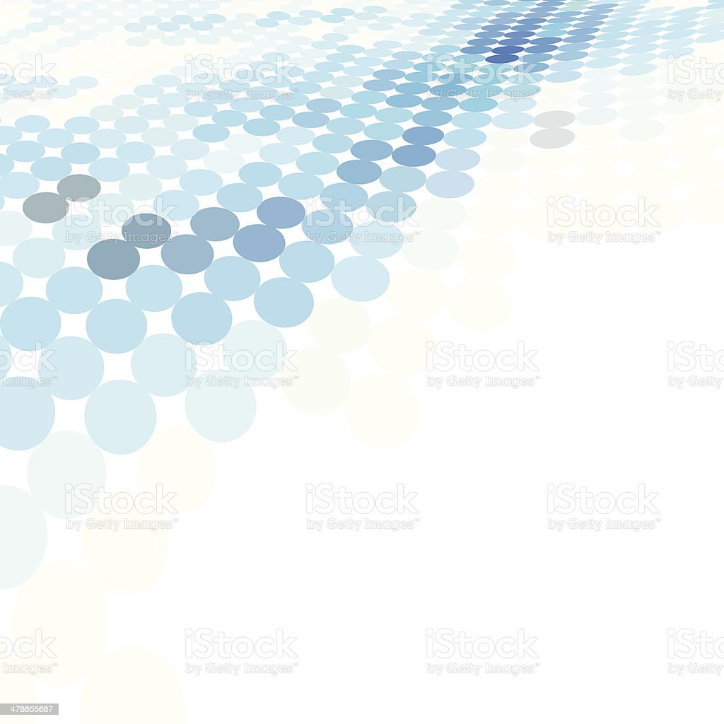 Abstract business background with blue dots vector art illustration