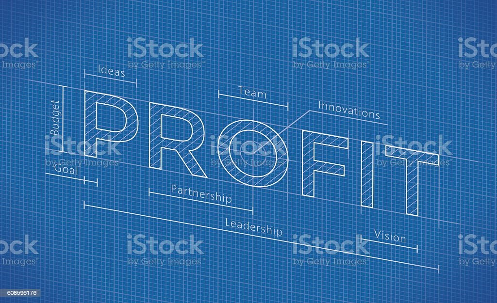 Abstract business blueprint with profit word stock vector art more abstract business blueprint with profit word royalty free abstract business blueprint with profit word malvernweather Gallery