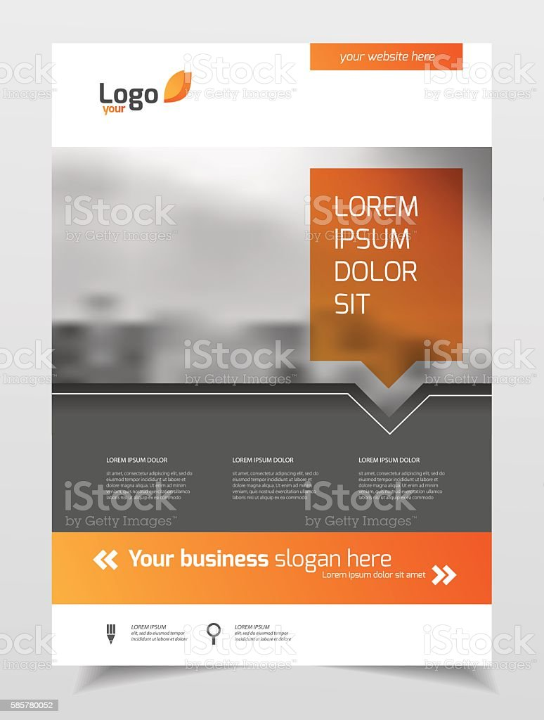 Abstract business Brochure design vector template in A4 size. Do