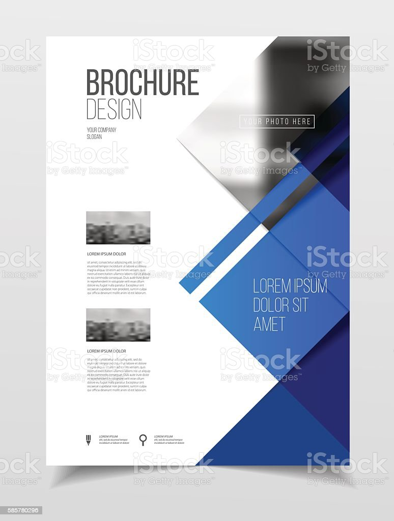 Abstract Business Brochure Design Vector Template In A4 Size Do ...