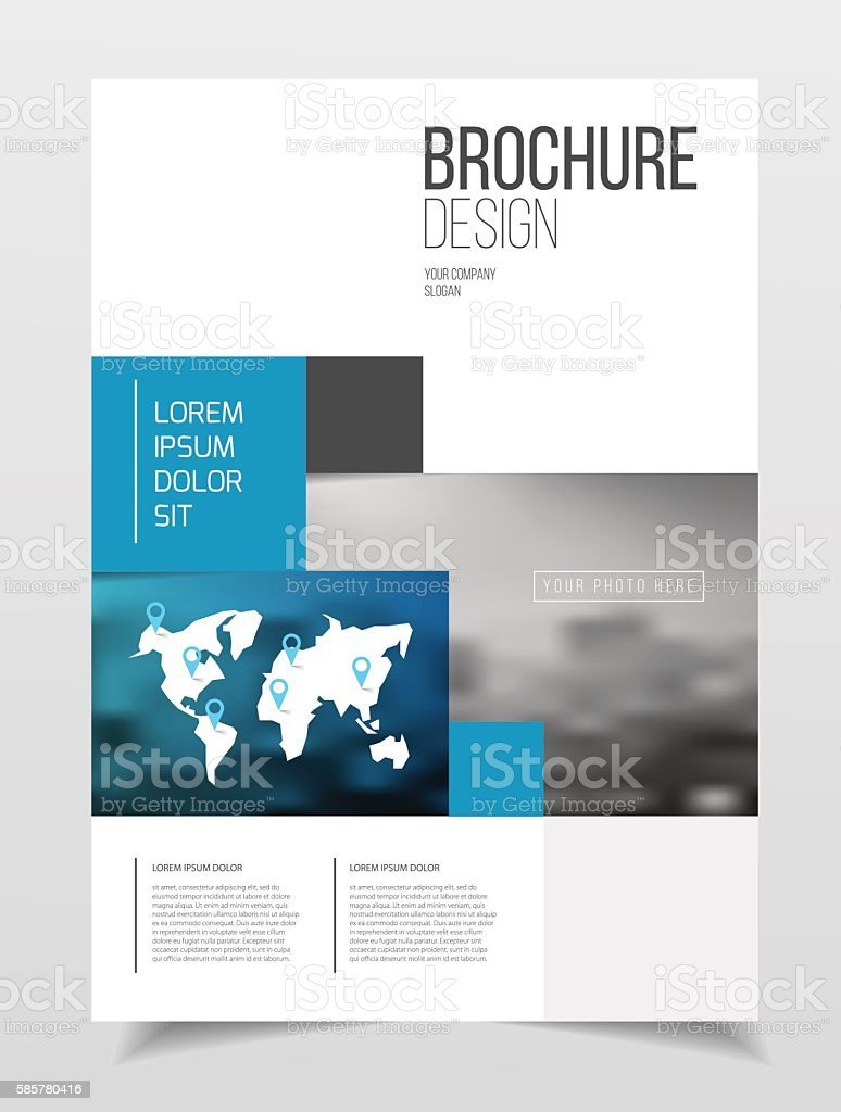 abstract business brochure design vector template in a4 size do