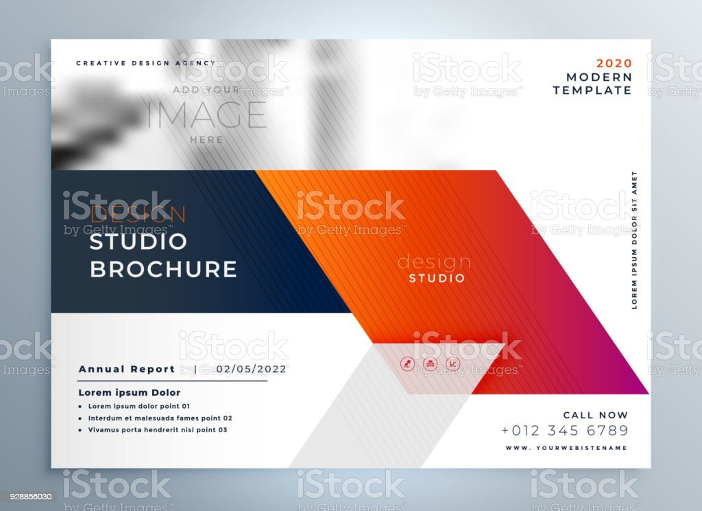 abstract business brochure presentation leaflet design template, Template Presentation Brochure, Presentation templates