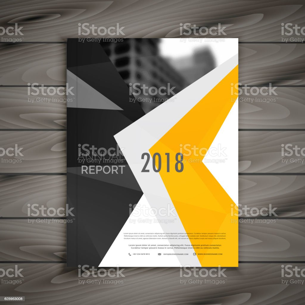 abstract business brochure template annual report cover page in royalty free abstract business brochure