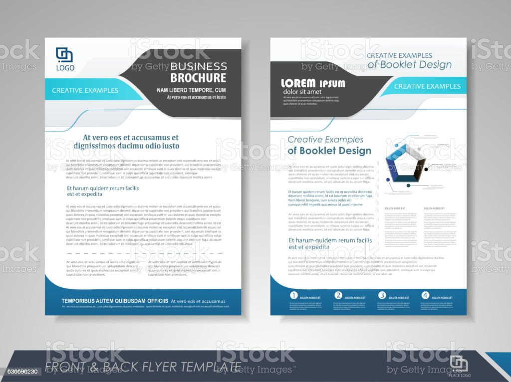 Abstract business brochure vector art illustration