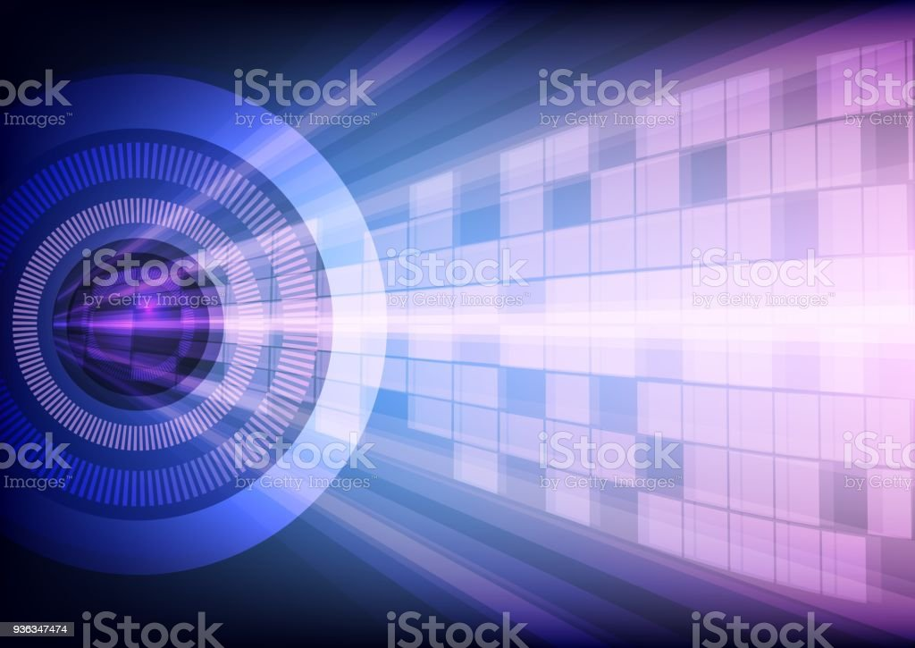 Abstract Business Camera Network Background,Violet and purple Style with Light dot,technology and computer concept design,vector illustration. vector art illustration