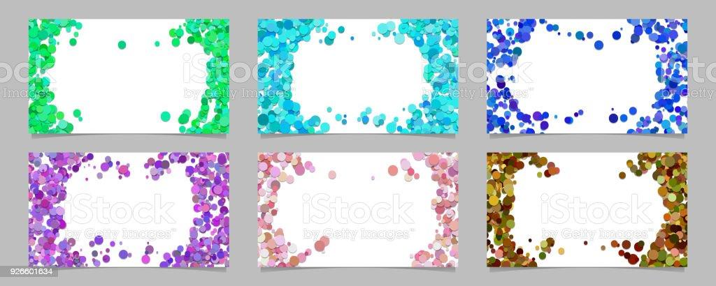 Abstrakte Visitenkarte Hintergrund Set Mit Farbigen
