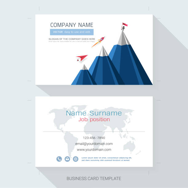 Abstract Business Card Design Templatethe Style Is Simple Also