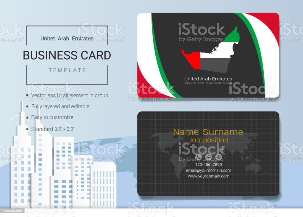 Uae abstract business card or name card template emirates banner for uae abstract business card or name card template emirates banner for independence day and other reheart Image collections