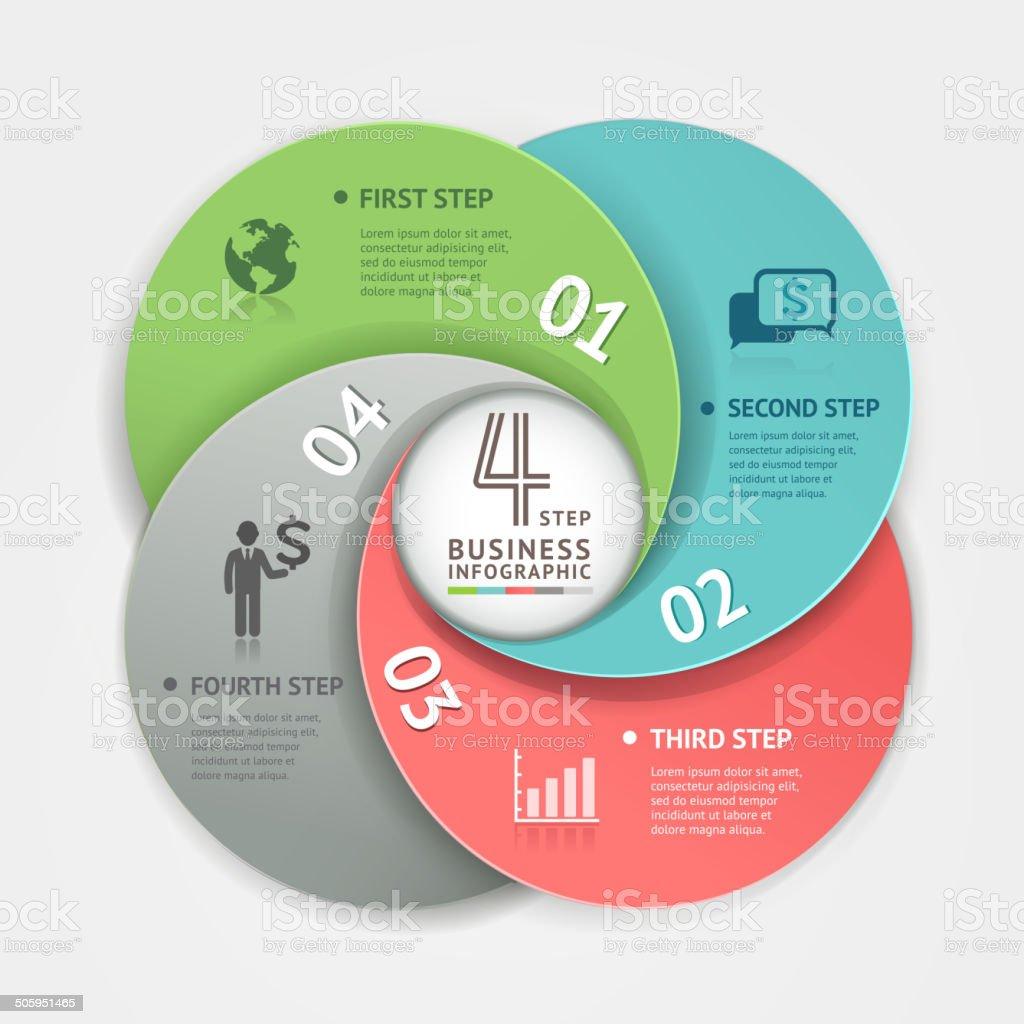 Abstrakte Infografiken business circle origami-Stil. – Vektorgrafik