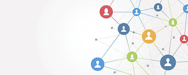 abstract business connection on social network online – Vektorgrafik