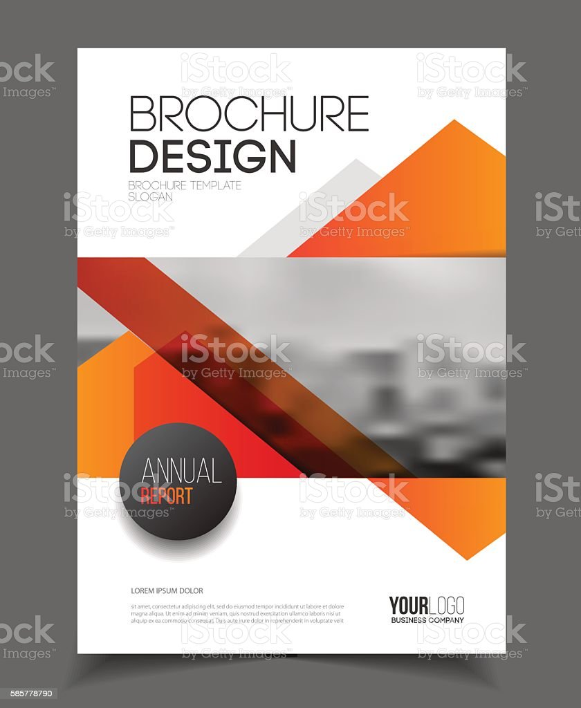 abstract business flyer design vector template in a4 size docum