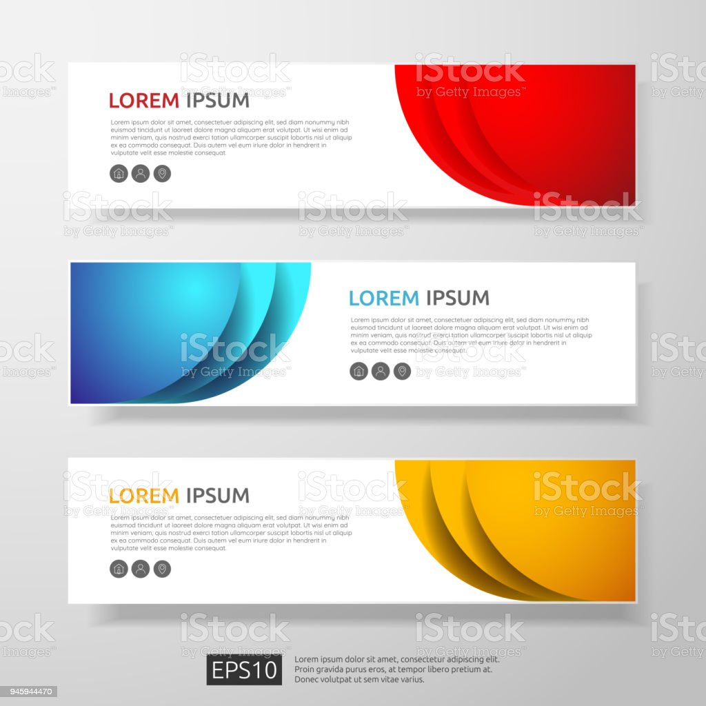Abstract business header or banner template set with geometric abstract business header or banner template set with geometric shapes vector illustration royalty free accmission Images