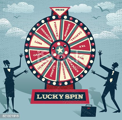 Abstract Business take the ultimate gamble on the business futures by playing on the Financial Wheel of Fortune.