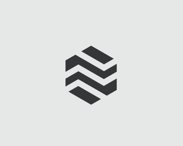 Modèle de conception de logo de prime d'affaires abstraite. Icône du logo hexagone immobilier Finances vecteur universel - Illustration vectorielle