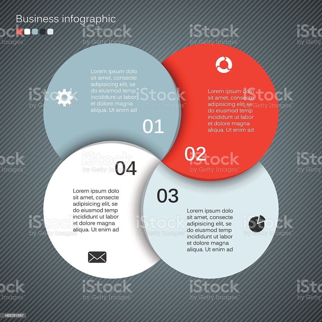 Abstract business project layout with four circles royalty-free abstract business project layout with four circles stock vector art & more images of abstract