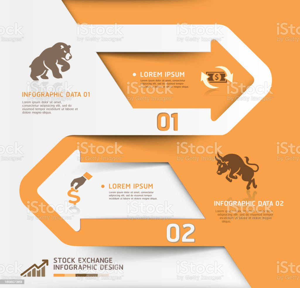 Abstract business stock exchange template. vector art illustration