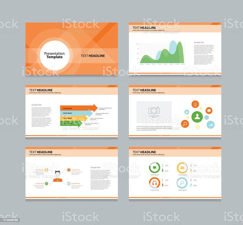 abstract business template presentation background vector art illustration