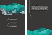 Abstract vector geometric polygonal design office business template, with place for text, 10 EPS.