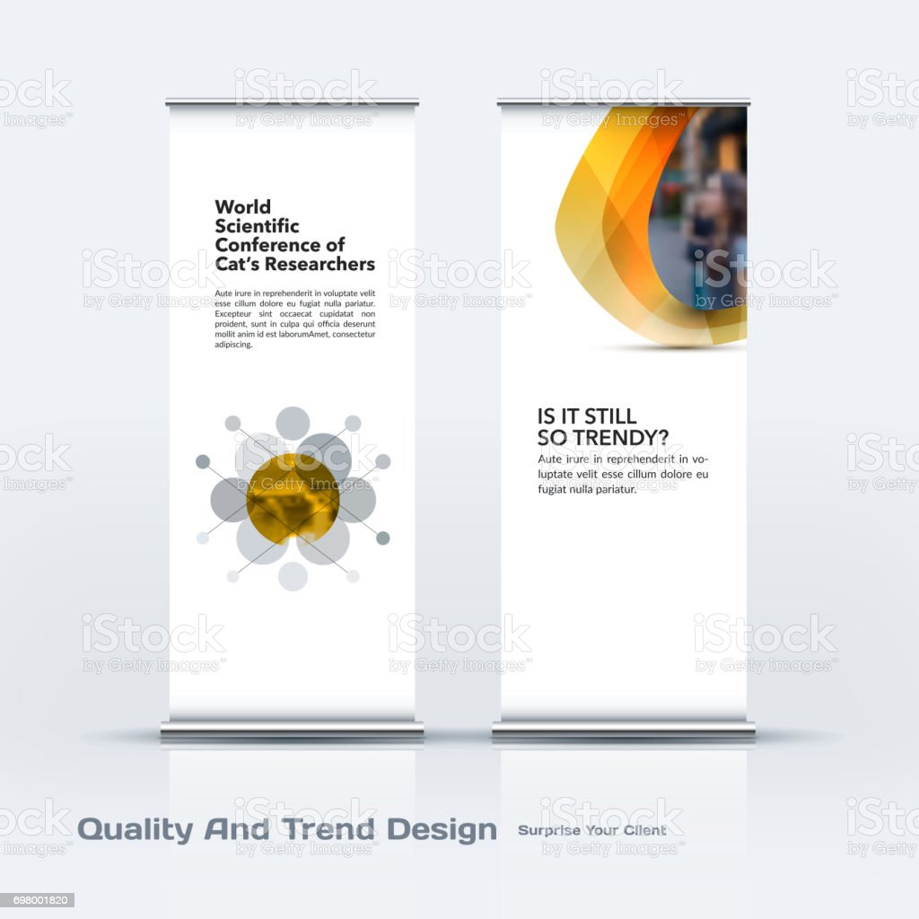 Abstract business vector set of modern roll Up Banner stand desi vector art illustration