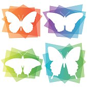 Abstract Butterfly Icons