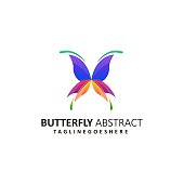 Abstract Butterfly Illustration Vector Template. Suitable for Creative Industry, Multimedia, entertainment, Educations, Shop, and any related business.