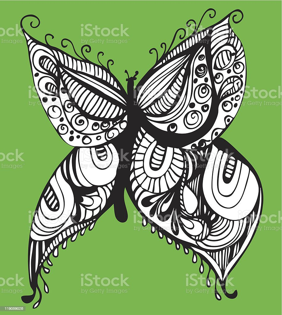 abstract butterfly vector art illustration