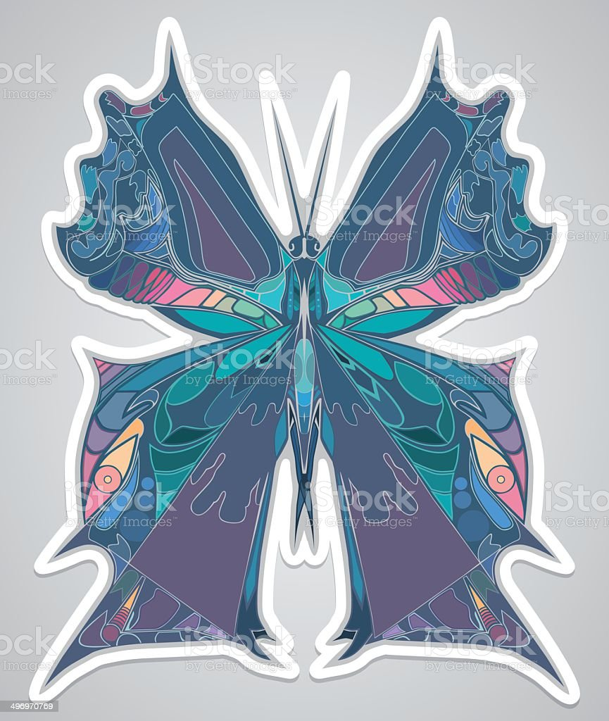 abstract butterfly royalty-free stock vector art