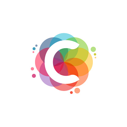 Abstract C Initial logo designs concept vector, Colorful Letter C logo designs