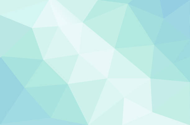 abstract calming pastel colored background with connected polygonal shapes - wellness stock illustrations