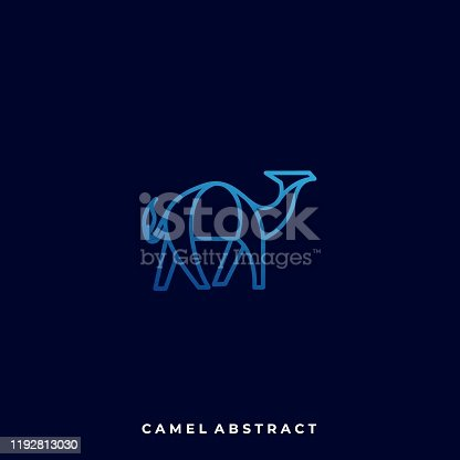 istock Abstract Camel Illustration Vector Template 1192813030