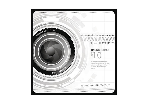 Caméra arrière-plan abstrait - Illustration vectorielle
