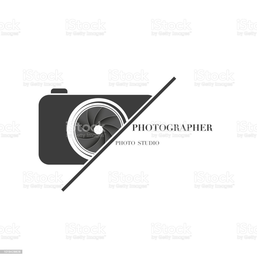 abstract camera logo vector design template for professional